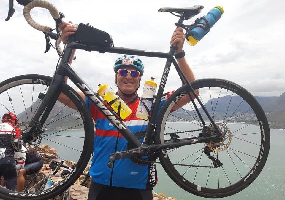 Thomas Neufeld beim Radmarathon in Kapstadt