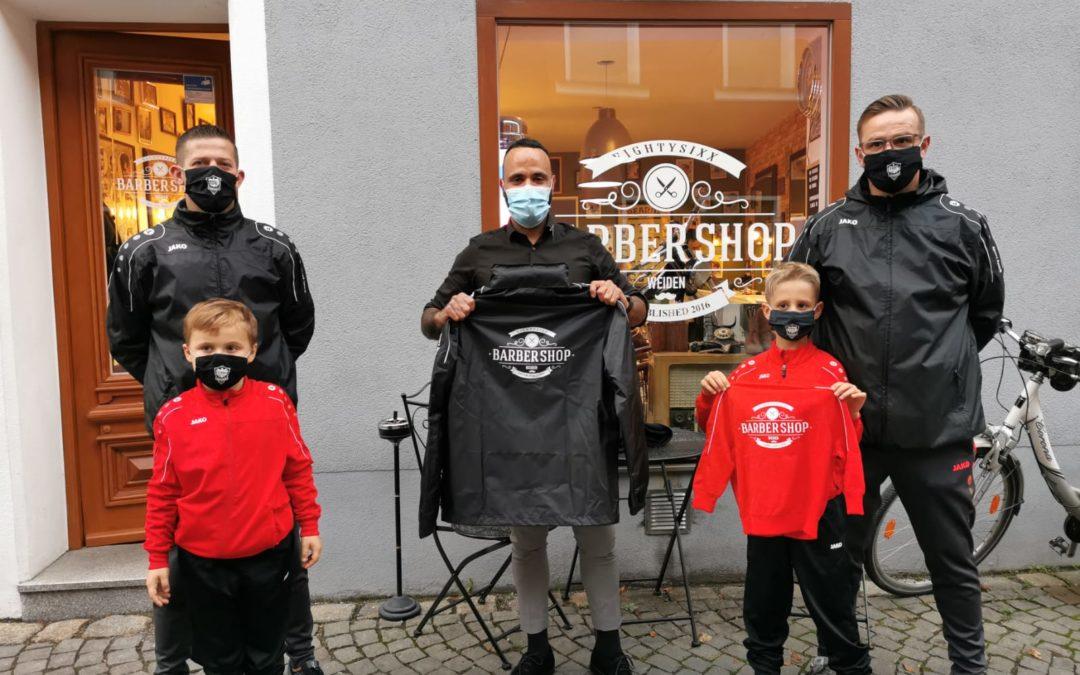 Kleiner Gruß an Sponsor Barbershop